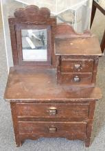 Antique child's dressers - (height: 32 inches, width: 20 1/4 inches, depth: 11 inches)