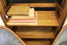 Three shelf teakwood bookcase