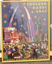 Soulard Mardi Gras Framed Poster