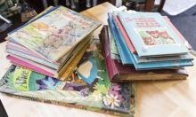 Collection of assorted Little Golden Books, Golden Records and more childrens books