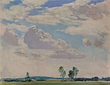 A. Winchell Price, Canadian (1907 - 2003), Summer clouds, oil on canvas, 14 x 18 inches