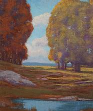 Edmund Wuerpel, American (1866-1958), Landscape, oil on board, 12 x 14 inches