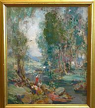 Fred Greene Carpenter, American (1882-1965), Landscape, oil on canvas, 21 3/4 x 17 5/8 inches