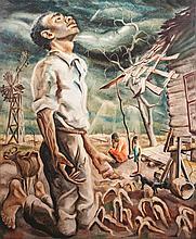 Joseph Paul Vorst, American (1897-1947), Drought, oil on masonite, 30 x 25 inches
