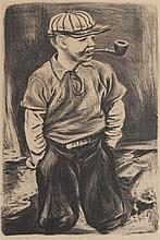 Joe Jones, American, (1909-1963), Tough Guy, lithograph, 17 3/4 x 12 inches