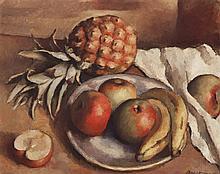 Robert Brackman, American (1898-1980), Still Life, oil on canvas, 15 1/2 x 20 inches