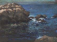 Gustav Goetsch, American (1877-1969), Deep blue, 1953, pastel on paper, 11 x 15 inches