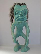 Ron Joseph Telek (b.1962) Canadian, Carved Shaman Figure