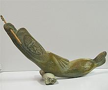 Northwest Coast Carved Whalebone Whaling Figure