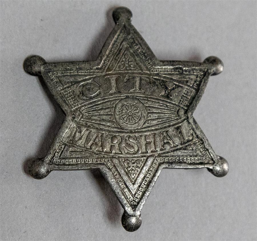Tiffany Studios New York, silvered metal City Marshal badge