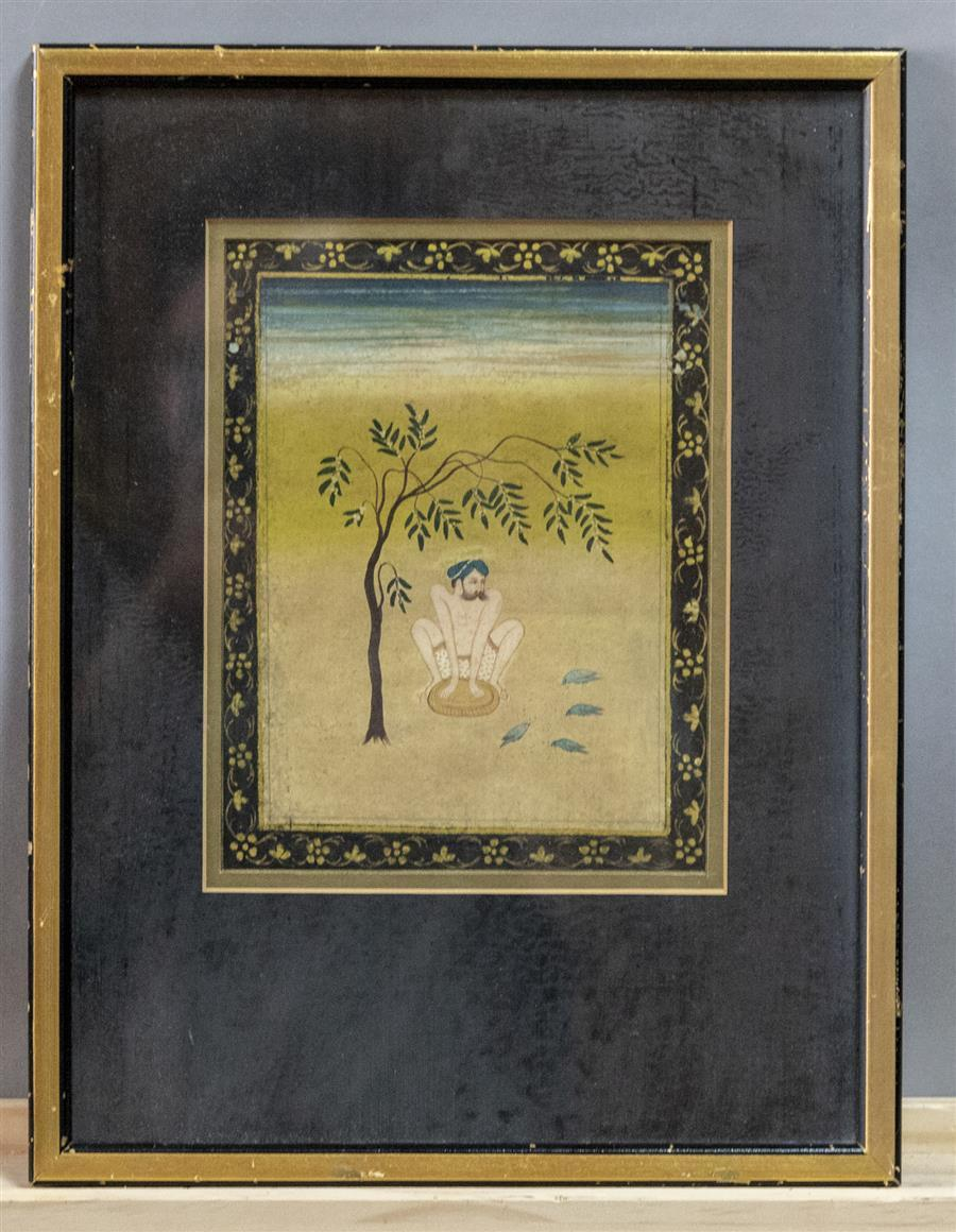 Antique Painting Of Hindu Ascetic