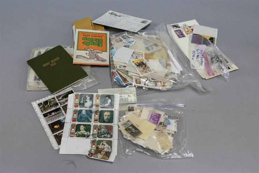 Large collection of assorted stamps foreign and domestic