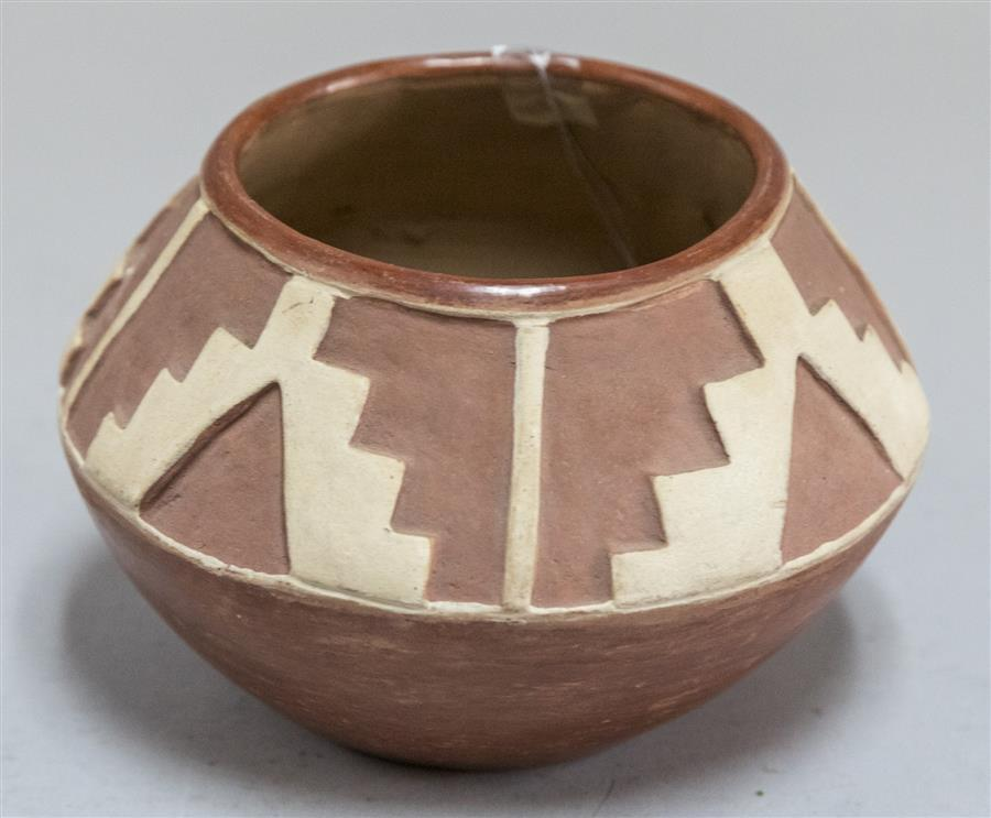 "Southwestern pottery bowl marked ""Montoya"