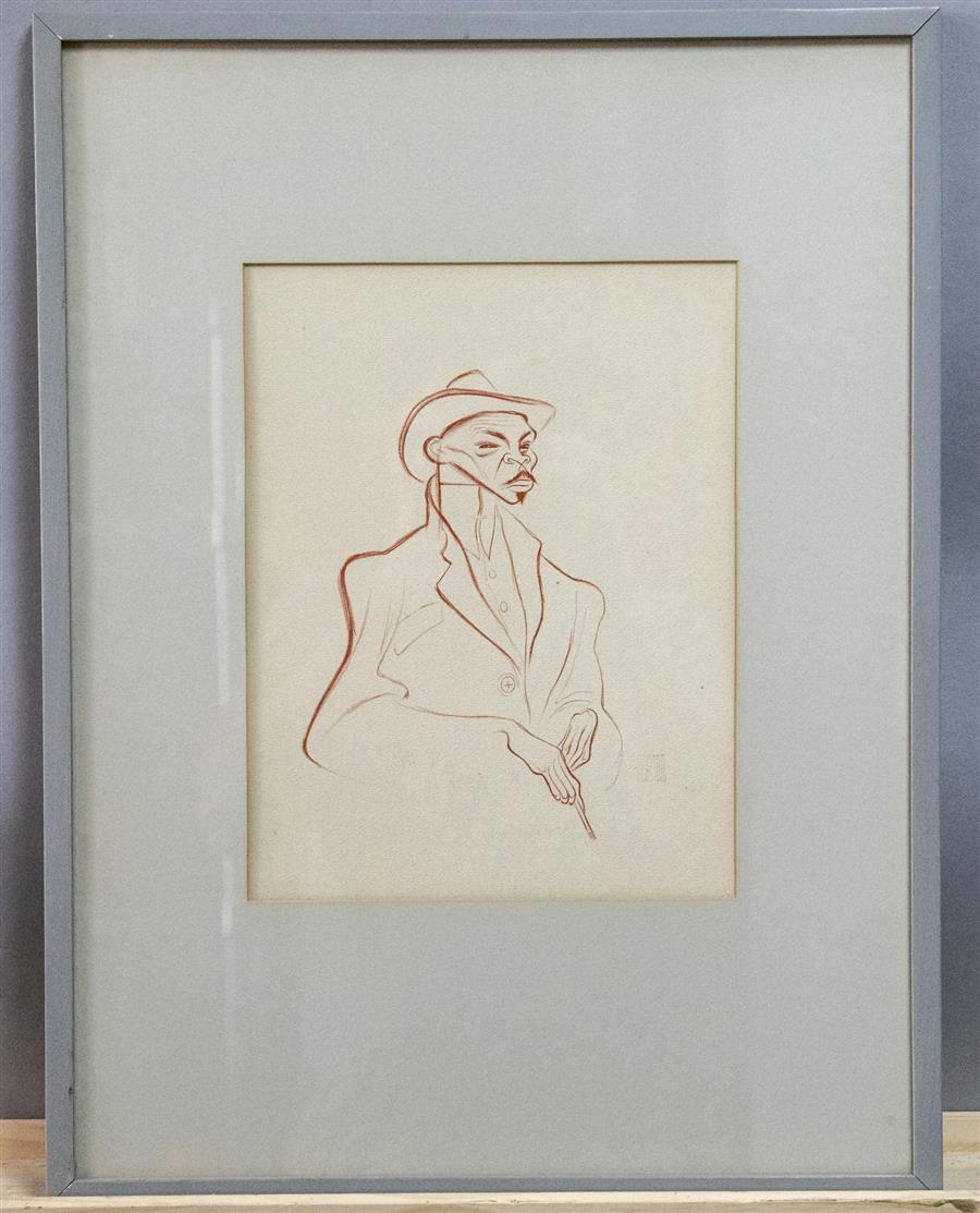 Framed work of art by Al Hirshfeld