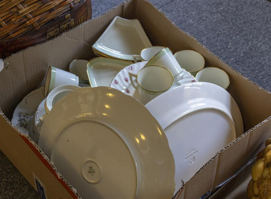 Collection of porcelain and ceramic tableware, three incomplete sets including Royal Copenhagen