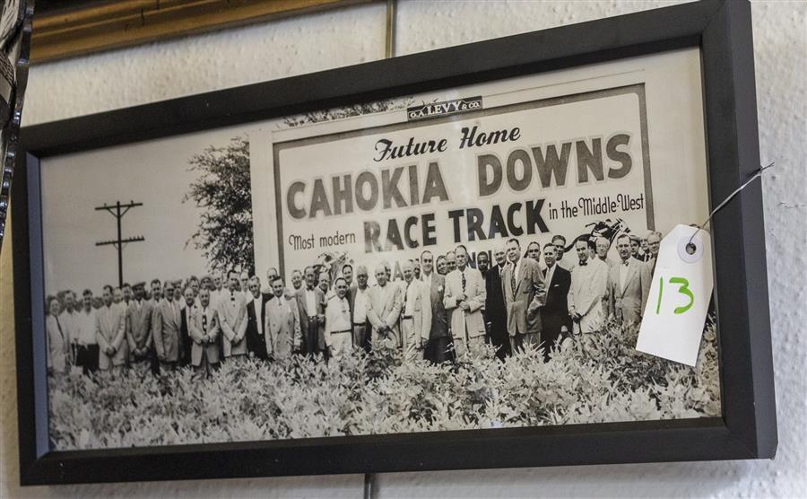 Framed picture of the future home of the Cahokia race track