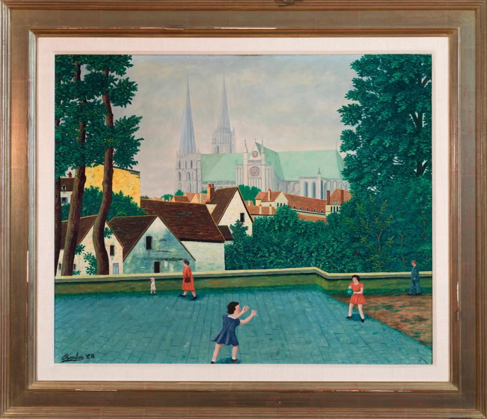 Verand Art Chartres Liquidation camille bombois, french (1883-1970), girls playing catch, oi