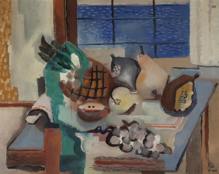 Lelo Fiaux, Swiss (1909-1963), Still life with fruit, oil on canvas,