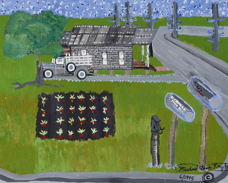 Michael Ray, American (b. 1956), Mr. Kentucky Homestead, 1995, acrylic on canvas, 16 x 20 inches