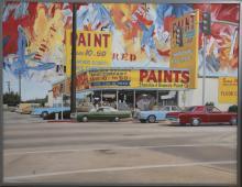 Araun Gordijn, Netherlands (b. 1947), Paint Store on Alloway Street, 1985, oil on canvas, 54 1/2 x 70 inches