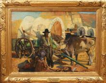 John Young Hunter, American (1874-1955), The Old Santa Fe Trail, oil on canvas, 26 x 36 inches