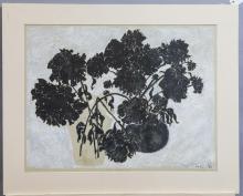 Elizabeth Cavanagh Cohen, St. Louis, Drying Peonies, watercolor print,