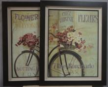 Two decorative framed posters,