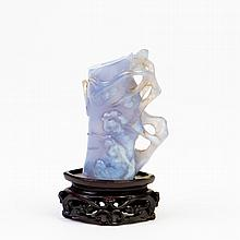 AN AGATE VASE, QING DYNASTY,19TH CENTURY