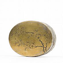 A PLUM INK BOX, LATE QING EARLY REPUBLIC PERIOD