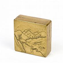AN INK BOX, LATE QING EARLY REPUBLIC PERIOD