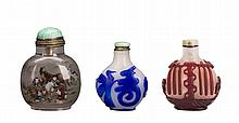 Group of Three Snuff Bottles