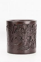 Chicken Wing or Jichi wood Carved Brush Pot