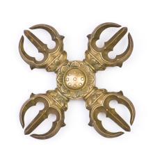 A Gilt Bronze Karma Vajra Pestle