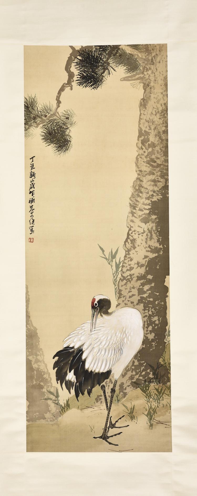 ZHU WENHOU (1895-1961), CRANES