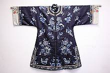 Chinese Silk Embroidered Robe, 19th century