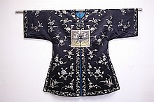 Chinese Women Silk Embroidered Robe with a rank badge