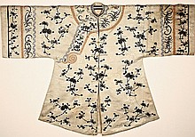 Chinese Silk Embroidered Robe, late 19th century