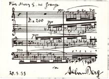 Stunning and Rare Musical Quotation from Alban Berg's Mysterious Lyric Suite