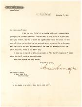 Financier Andrew Carnegie Letter Encouraging a Young Person to Serve Others