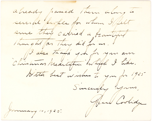 Autograph Letter by First Lady Grace Coolidge to President of University of Miami