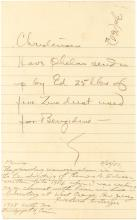 Thomas A. Edison Autograph Letter Ordering Zinc Dust for Production of Benzidine