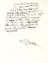President Eisenhower Autograph Manuscript Fragment Announcing his 1956 Re-Election Bid