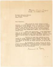 Fine Typed Letter Signed by Manuel de Falla, Spain's Greatest Composer