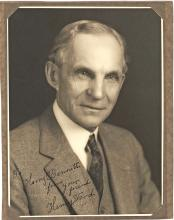 Henry Ford Inscribes a Photograph to his