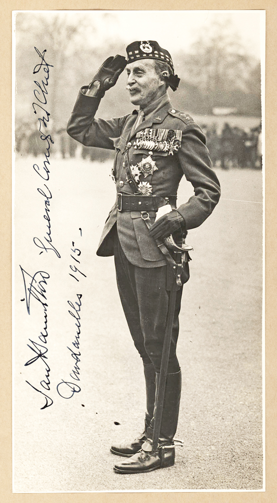Stunning Signed Photograph of Commanding General Ian Hamilton During the Disastrous World War I Dardanelles Campaign