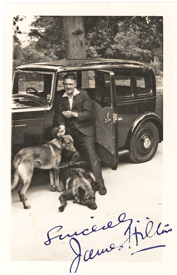Rare Signed Photograph of James Hilton, British Author of Lost Horizon and Goodbye, Mr. Chips
