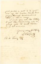 Hungarian Hero Lajos Kossuth Writes Autograph Letter from His London Exile