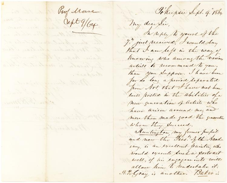 Samuel F. B. Morse Letter on Lincoln: