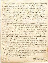 Lengthy Pastor J.F. Oberlin (Oberlin College Namesake) 1772 letter on Entomology