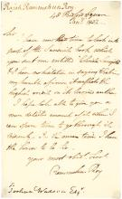 Rare Letter by Ram-Mohun Roy, 19th Century Indian Social and Religious Reformer